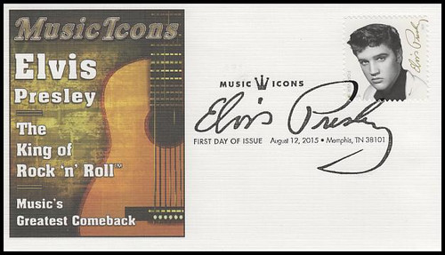 5009 / 49c Elvis Presley : Music Icons Series 2016 Fleetwood First Day Cover