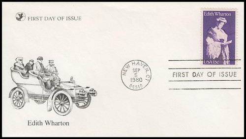 1832 / 15c Edith Wharton : Literary Arts Series 1980 Reader's Digest FDC