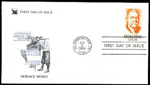 2095 / 20c Horace A. Moses : Junior Achievement 1984 Reader's Digest FDC