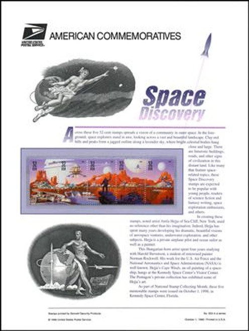 3238 - 3842 / 32c Space Discovery 1998 USPS American Commemorative Panel Sealed #553