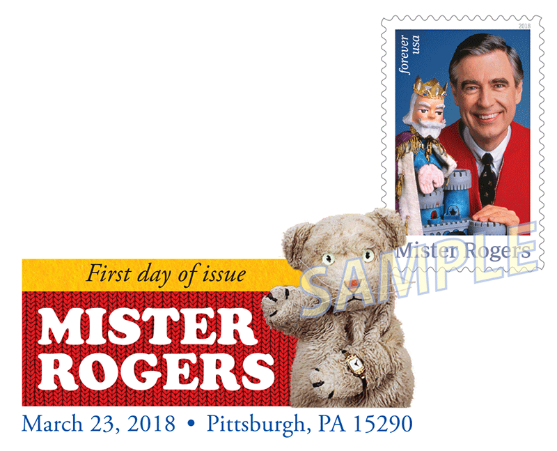Mister Rogers Stamp Digital Color Pictorial Postmark