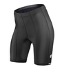 Black top shelf padded bike short