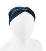 Aero Tech Women's Twisted Headband Wrap in Blue Lightnining
