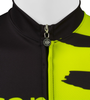 Tall Men's Sprint Jersey Expressions Safety Yellow Cycling Jersey Made in USA Front Zipper Detail
