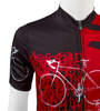 Tall Men's Sprint Jersey Expressions Red Cycling Jersey Made in USA Front Detail