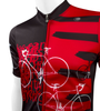 Tall Men's Sprint Jersey Expressions Red Cycling Jersey Made in USA Off Front Detail