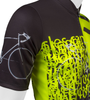 Tall Men's Sprint Jersey Expressions Safety Yellow Cycling Jersey Made in USA Sleeve Detail