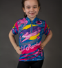 Aero Tech Youth Jersey - Lil Rockets - Orange/Pink - Cycling Jersey  Blast Off On Your Bike!