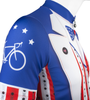 Aero Tech Uncle Sam Patriotic Cycling Jersey Made in USA Sprint Jersey Sleeve