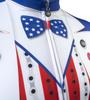 Aero Tech Uncle Sam Patriotic Cycling Jersey Made in USA Sprint Jersey Upper Front Detail