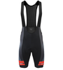 Men's Premiere Bib Shorts Advanced Carbon Red/Black with Elite Chamois Pad Front