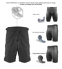 Men's Summit Mountain Bike Shorts Short Liner Kit Panel