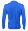 Aero Tech Wicking Long Sleeve Cycling Jersey Royal Blue Back