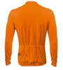Aero Tech Wicking Long Sleeve Cycling Jersey Orange Back