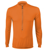 Aero Tech Wicking Long Sleeve Cycling Jersey Orange Front