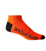 Aero Tech Coolmax Made in USA Low Rise Cycling Sock in Orange