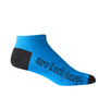 Aero Tech Coolmax Made in USA Low Rise Cycling Sock in Royal Blue