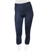 Women's Spandex Padded Cycling Capri Navy Blue Front