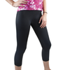 Women's Spandex Padded Cycling Capri Black Being Warn