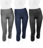 Women's Spandex Exercise and Fitness Workout and Biking Capri All Colors Front