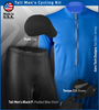 Tall Men's Black Pearl Padded Bike Short Kit Panel