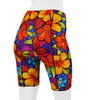 Women's Tropical Wild Print Padded Cycling Shorts Back