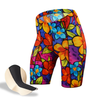 Women's Tropical Print bike Shorts in a Bright Floral Color