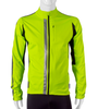 High Visibility Safety Yellow Full Zip SoftShell Cycling Jacket Front View with 3M Reflective
