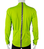 High Visibility Safety Yellow Full Zip SoftShell Cycling Jacket Back View