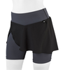 Women's Cycling Skort Padded Bike Skirt Charcoal Front