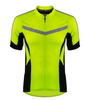 Men's High Vis Reflective Pace Cycling Jersey Safety Yellow Front