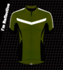 Reflective Pace Cycling Jersey Safety Yellow Front Detail