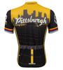 Pittsburgh Theme Sprint Bike Jersey Full Back
