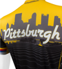 Pittsburgh Theme Sprint Bike Jersey Off Back Detail