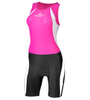 Women's Triathlon Competition Skin Suit Black and Pink