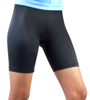Women's Black compression fitness shorts
