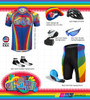 Aero Tech Men's Peloton Jersey - Ride with Pride - Rainbow Cycling Jersey