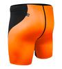 High Performance Compression Shorts Orange Back