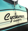 Retro Active Cyclewear Biking Sprint Jersey Front Detail
