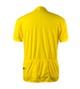 Big Men's Cycling Solid Jersey Yellow Back