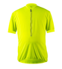 Big Men's Cycling Solid Jersey Safety Yellow Front