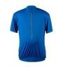 Big Men's Cycling Solid Jersey Royal Blue Front