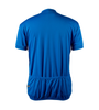 Big Men's Cycling Solid Jersey Royal Blue Back