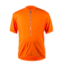 Big Men's Cycling Solid Jersey Orange Front