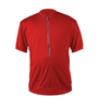 Big Men's Cycling Solid Jersey Red Front