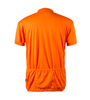 Big Men's Cycling Solid Jersey Orange Back