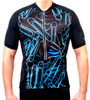 Aero Tech Men's Designer Cycling Jersey - Blue Paper Clips