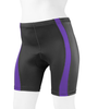 Women's Classic 2.0 Color Padded Bike Shorts Purple Front