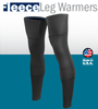 Aero Tech Cold Weather Leg Warmers - Stretch Fleece Double Layer Knee - Regular and Tall Sizing