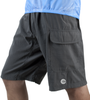 Cargo Mountain Bike Shorts with Padded Underliner Charcoal Front View